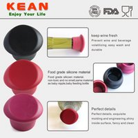 fresh food - Silicone Wine Stoppers BPA Free Food Grade Silica Gel Reusable Wine Beer Bottle Caps Cover Seal Your Wine Fresh with The Durable Stoppers