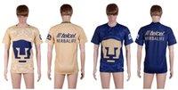 Tailandia de la calidad 2016-17 del club Pumas de la UNAM México Inicio oro azul ausente de los hombres jerseys de fútbol Camisetas de futbol Puma camisas de los hombres de fútbol Jersey