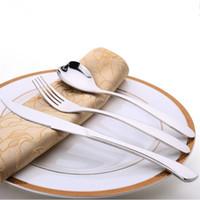 Wholesale 2016 New Style set Stainless Steel Knife Spoon Fork Heart Shaped Western Tableware Portable Flatware Dinnerware Set
