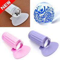 Wholesale Silicone Nail Stamper Transfer colors Clear Jelly Nail art template women Nail art Nail polish nail color printing DIY Manicure Tools
