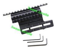 aluminum side rails - Aluminum Black mm Weaver Double Rail Side Scope Mount for AK
