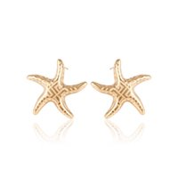 animal shape patterns - Maze Pattern Starfish Shape Stud Earrings for Lady African Style Ear Stick Plated With K Gold Xuping Low Price Fashion Jewelry for Gift