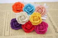 american beauty rose - 9 colors felt rose pins men s suit lapel flowers black red orange blue purple beige yellow beauty peach