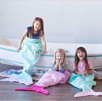 bedroom mattresses - Kids Mermaid Tail Sleeping Bags Fish Tail Blankets Shark Blanket Cocoon Mattress Sofa Bedroom Blankets Camping Travel Blankets A1236 p