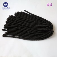 Más barato Brown # 4 sintética miedo bloquea las extensiones de cabello tejer afro ganchillo trenzado torcedura Dreadlocks pelo