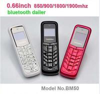 Wholesale 216 Yama Yahoo BM50 Unlocked Mini Phone Bluetooth Headset Least Mobile Phone Bluetooth Dialer Headphone Pocket Cellphone with