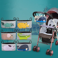 Wholesale Animal Cartoon Pattern Waterproof Universal Baby Stroller Diaper Bag Organizer Baby Car Hanging Basket Storage Stroller Accessories
