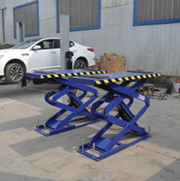 Wholesale Chinese Ton Scissor Lift in ground Car Lift Big Platfrom Car Lift Domestic And Commercial Using