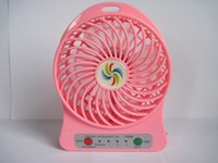 Wholesale USB Mini Fan Portable Electric Fans LED Portable Rechargeable Desktop Fan Cooling Operated without battery