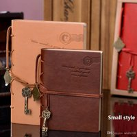 Wholesale New Classic Retro Vintage Leather Notebook Bound Blank Page Journal Diary Creation Office School Supplies Gifts style A5 And A6 ZJ N06