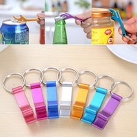 beer botter opener - Beer Botter Opener Plain Aluminum Key Chain Ring Easy Mini Pocket Bottle Opener Practical Club Bar Tool