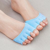 anti sweat deodorant men - Pair anti wear deodorant absorb sweat invisible soft care of the foot pad men women forefoot nursing pad open toe socks