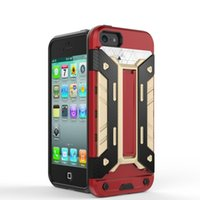 advanced armor - Advanced Armor Hard Hybrid Case Cover Military Stand Holster Combo Case for For Apple iPhone S SE Card Slot Pocket Folding Kickstand
