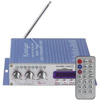 Wholesale Hi Fi Mini Digital Motorcycle Auto Car Stereo Power Amplifier Sound Mode Audio Music Player Support USB MP3 DVD CD FM SD order lt no track