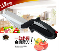 chinese food - Clever Cutter in Kitchen Knife Cutting Board Scissors Stainless Steel Kitchen Food Cutter for Meat Vegetable
