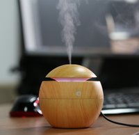 Wholesale Mini Portable Mist Maker Aroma Essential Oil Diffuser Ultrasonic Aroma Humidifier Light Wooden USB Diffuser For Home Office