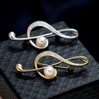 accessory music - Trendy Music Brooch Noble Zircon Brooches Scarves Buckle Crystal Vintage Brooch Coat Accessories Beautifull Corsage Pins For Women Jewery