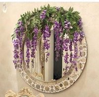 Wholesale 200pcs Simulation Artificial Silk Flowers Beautiful Wisteria Flowers Vine Birthday Christmas Ornaments For Party Wedding Y291