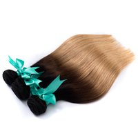 Cheap Hot Selling 8A Ombre Human Hair Weave Bundles 3Pcs Lot Great 1B 4 27 Brazilian Peruvian Malaysian Straight Hair Extensions 8-28inch Soft