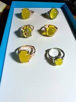 Wholesale beeswax amber jewels ring china