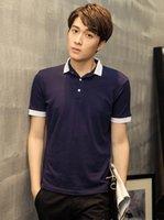 Wholesale 2016 spring and summer new cotton short sleeved T shirt men men men Korean Slim solid color POLO shirt