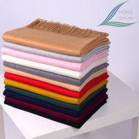 best quality scarf - 2016 New Luxury Scarf Winter Women Scarf Female Real Wool Solid Scarf Best Quality Tassels Women Wraps