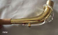 Excellence Alto Eb saxophone cou corps doré + clés plaqué argent 24.0mm