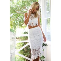 Wholesale Celebrity Sexy Lace Piece Bandage Dress White Casual Party Prom Evening Club Outfits women s Dresses drop shipping