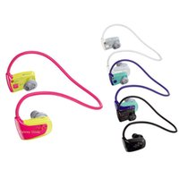 Wholesale Wholesales New GB Sport MP3 Music Player Headset Walkman NWZ W262 G Earphones Running Reproductor Mp3 Headphones Players