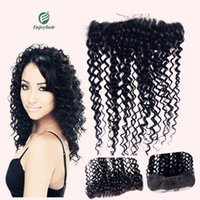 Wholesale x4 lace frontal closure hidden knots deep curly brazilian hair lace frontal lace closure hair extension free part