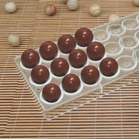 Wholesale 80pcs DIY d plastic hard PC Polycarbonate mini Football shaped molds moulds tray tools half sphere chocolate mold manufacturer