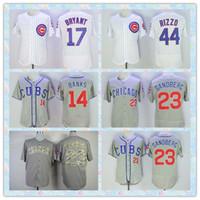 Wholesale Fast Men s Chicago Cubs Baseball Jersey Ernie Banks Kris Bryant Ryne Sandberg Rizzo Gray White Stripe Elite Jerseys