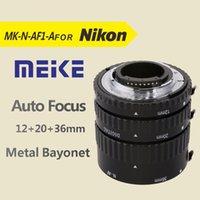 al tubes - Meike MK N AF1 Al Adapter Auto Focus Extension tube Ring AF for Nikon D7100 D5200 D3100 D800 D90 D800E D5100 D7000 DSLR Cameras