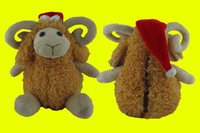 sheep plush - 2016 New Arriving Mine Sheep With Red Christmas Hat Plush Toys For Christmas