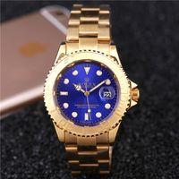 Wholesale automatic date luxury fashion men and women of the steel belt movement quartz clock men r o l e x watch