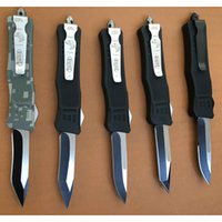 Wholesale Vespa New mini Microtech Troodon blade Zinc Aluminum Handle Tactical hunting Survival EDC Knife