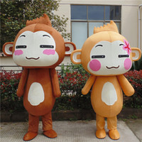 Wholesale yoyo and cici monkey mascot costumes animal fancy dress for party good quality can be customized