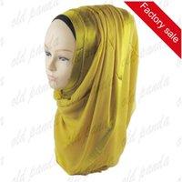 Wholesale Fashion Women Beauty Fashionable Charming Women Shimmer Glitter Viscose Muslim Viscose Plain Hijab Shawl Scarf
