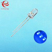 Wholesale mm Blue LED Round Light Emitting Diode Transparent Ultra Bright Lamp Bead Plug in DIY Kit Practice Wide Angle DIP