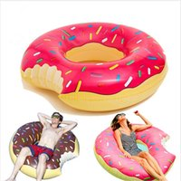 Wholesale Gigantic Donut Pool Inflatable Floats Pool toys Swimming Float For Adult Pool Floats Inflatable Donut Swim Ring Summer Water Toy