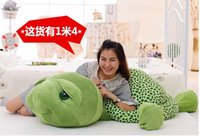 Wholesale Stuffed Turtles Big Eyes - New Popular 40cm plush animals tortoise pp cotton hot sale cute stuffed green sea turtle big eyes kids toys birthday gifts m,hu9.p
