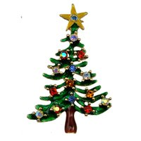 asian fashion bags - 12pcs New Arrival Green Christmas Tree Brooch Colored Drill Brooches for Women Gift Plant Accessories Fashion Lady s Bag Pins Decoration