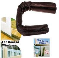 Wholesale New Brand Twin Door Draft Dodger Guard Stopper Energy Save Window Protector Doorstop Decor