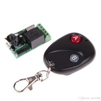 Wholesale 2015 New DC12V MHz MHz Remote Control Switch with Button Remote Control F OS