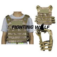 Wholesale D Tactical Military Aisoft Combat CS War Game Vest Simplified BANSHEE CAMO Outdoor Durable Wearable Light Paintball Vest