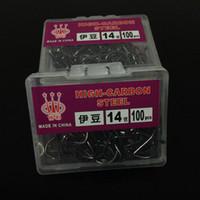 Wholesale 100pcs box NO High Carbon Steel Izu Barbed Hooks Fishing Hook Pesca Fishing Tackle Carp Fishing