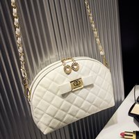 bags with logos - Luxury Handbags Women Bags Designer Women Messenger Bags Famous Brand New Logo With Chain Diamond Lattice Gold PU Leather