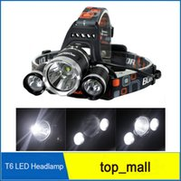 best head torch - Hot sell best quality Lumen XCREE XM L T6 LED Headlamp Headlight Head Torch Lamp XCharger