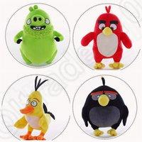 Cheap 4 design KKA104 Birds Chuck Plush Animal Baby Dolls Pillow Toys Black Bomb Male Plush Stuffed Bird Animal Toy 200pcs