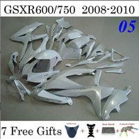 Wholesale Whole White Motorcycle Fairings Fit Suzuki GSXR600 GSXR750 GSXR Custom Injection Cowling Gifts